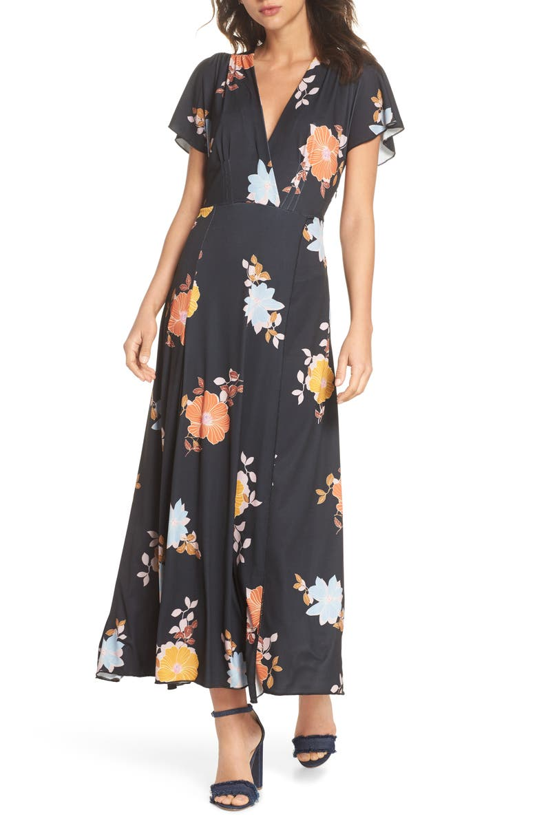 FRENCH CONNECTION Shikoku Jersey Maxi Dress, Main, color, 001