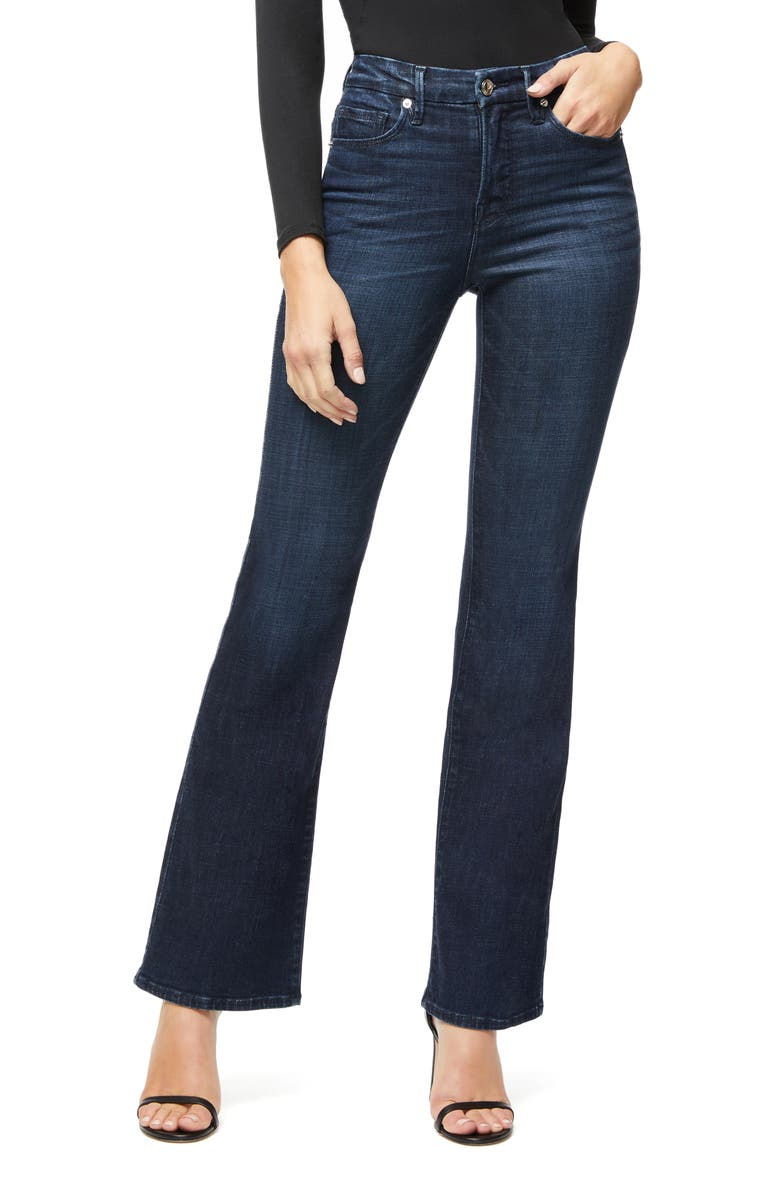 GOOD AMERICAN Good Flare Jeans, Main, color, BLUE025