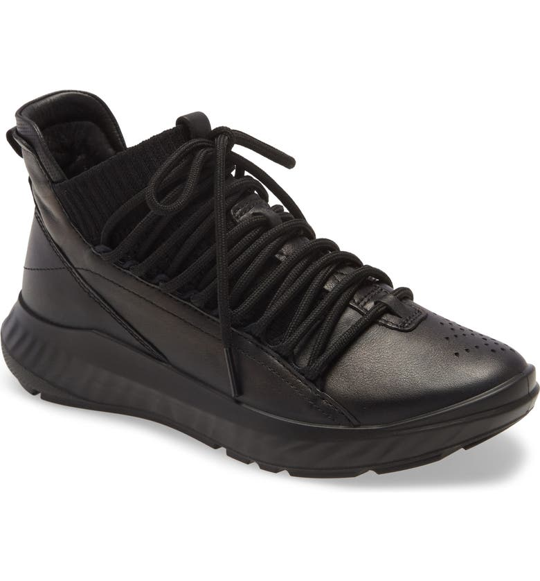 ECCO ST.1 Lite Mid Cut Sneaker, Main, color, 001