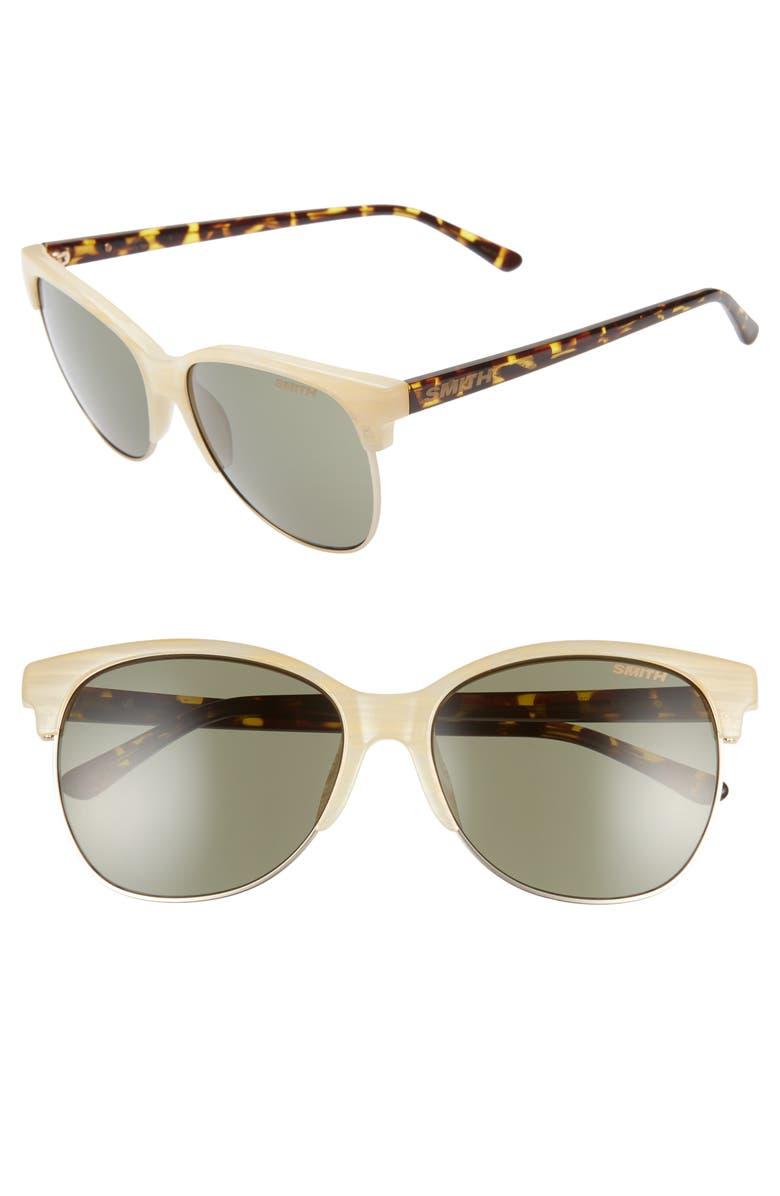 SMITH Rebel 58mm Cat Eye Sunglasses, Main, color, 900