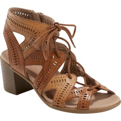 Earth Mali Lace-Up Sandal, Brown