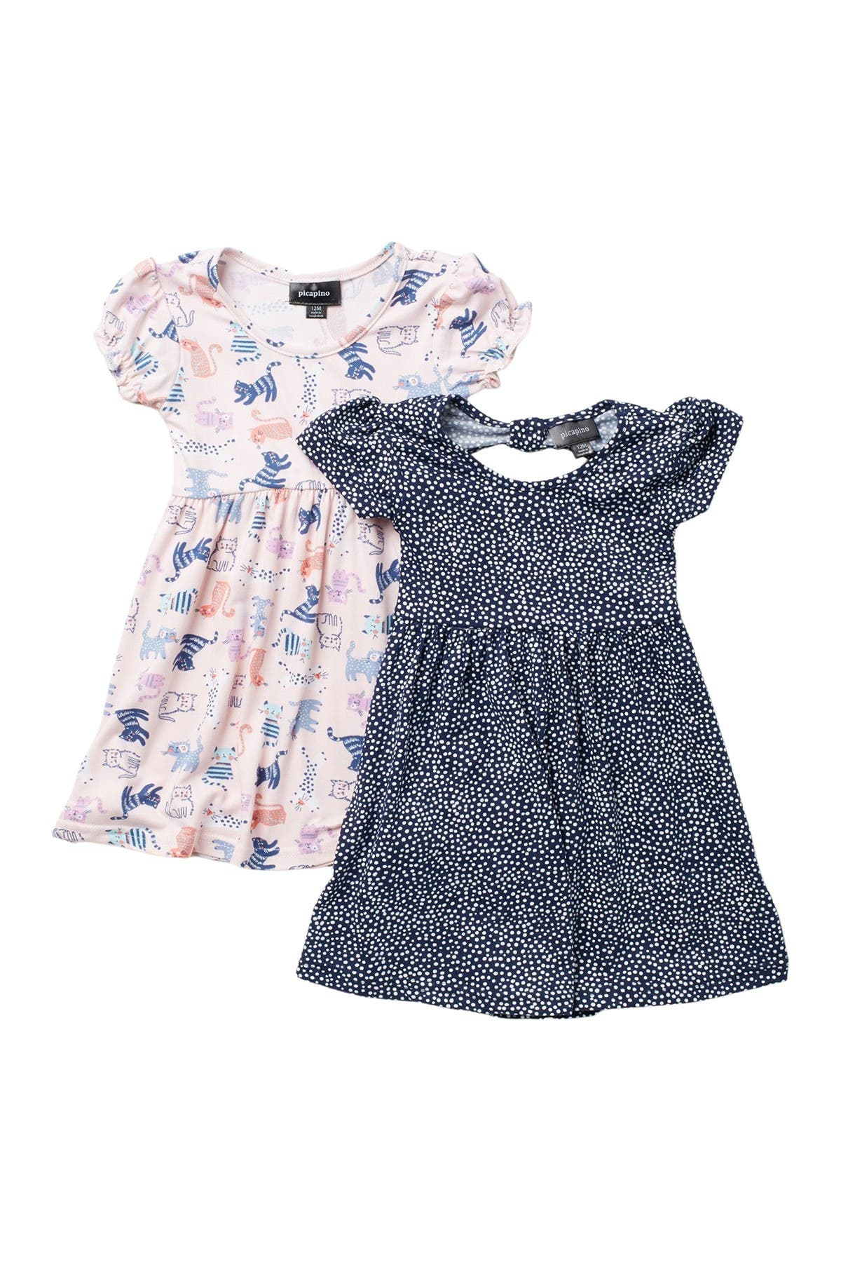 Image of Penelope Mack Short Sleeve Printed Dresses - Set of 2