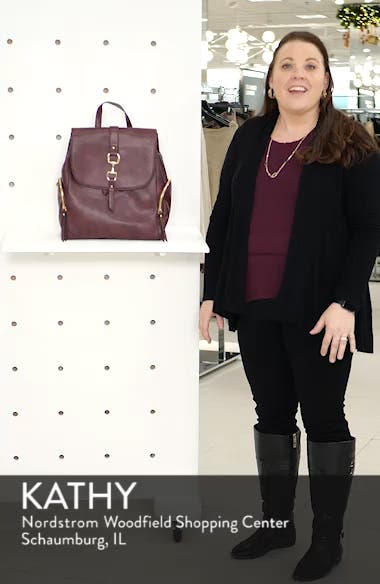 Marah Faux Leather Backpack, sales video thumbnail