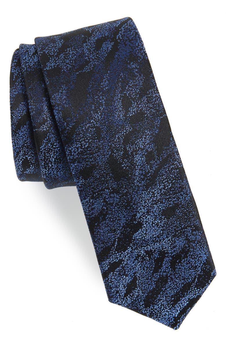 CALIBRATE Gypsum Camo Silk Tie, Main, color, 410