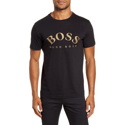 Boss Embroidered Logo T-Shirt, Black