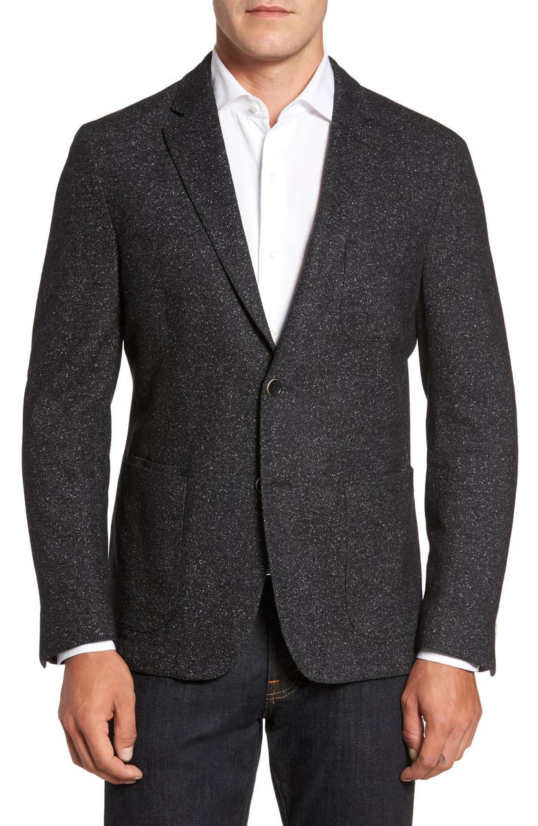 FLYNT Donegal Classic Fit Suede Trim Jersey Sport Coat, Main, color, 021
