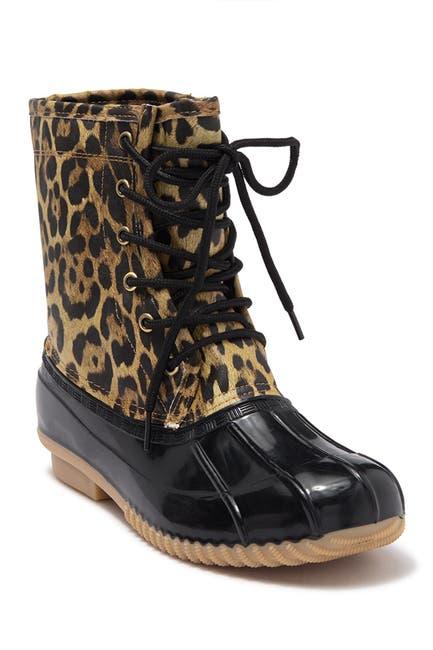 Image of Sugar Skylar Leopard Duck Boot