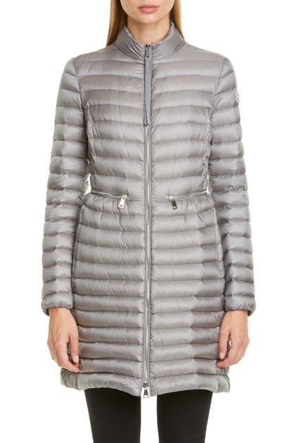 Agatelon Lightweight Down Quilted Jacket In Charcoal