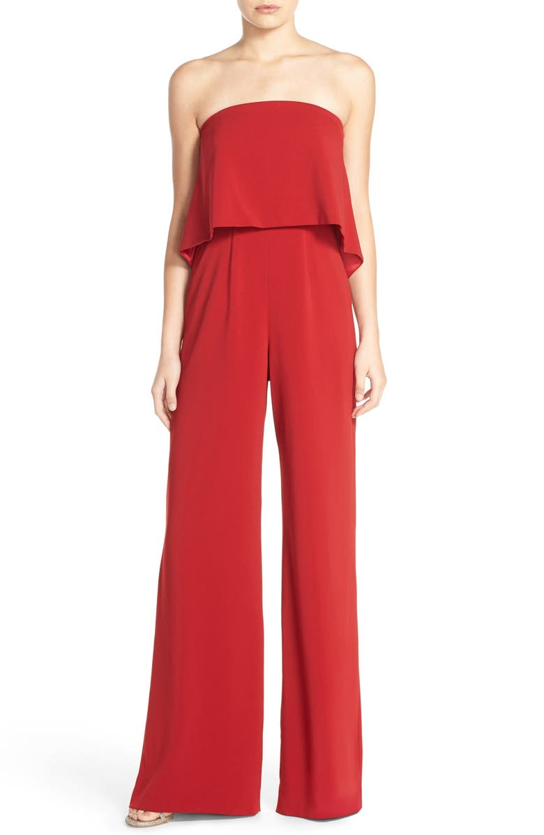 JAY BY JAY GODFREY Jay Godfrey Strapless Popover Crepe Jumpsuit, Main, color, 600