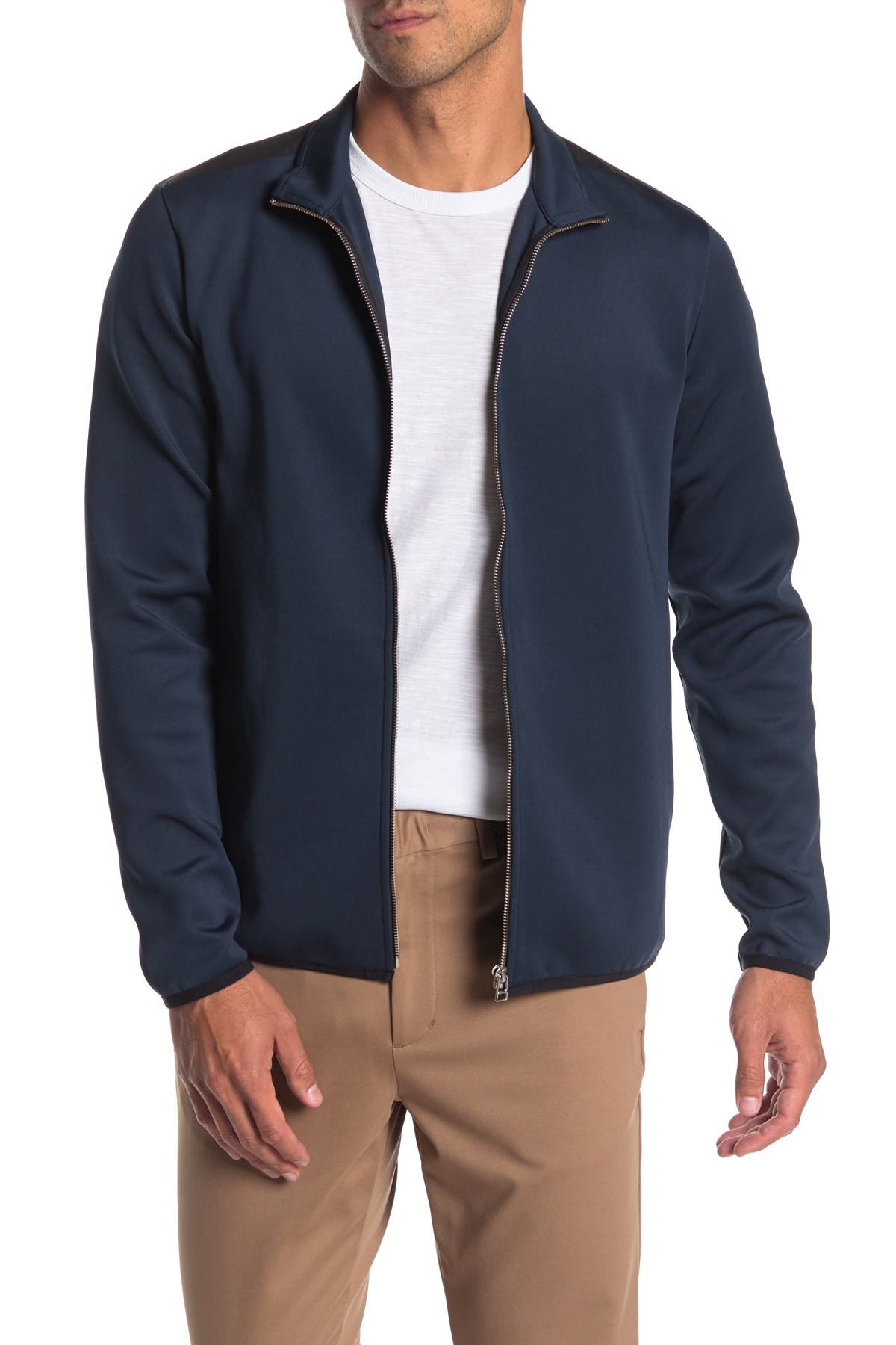 Image of Theory Rolenn Oascent Ponte Knit Zip Jacket