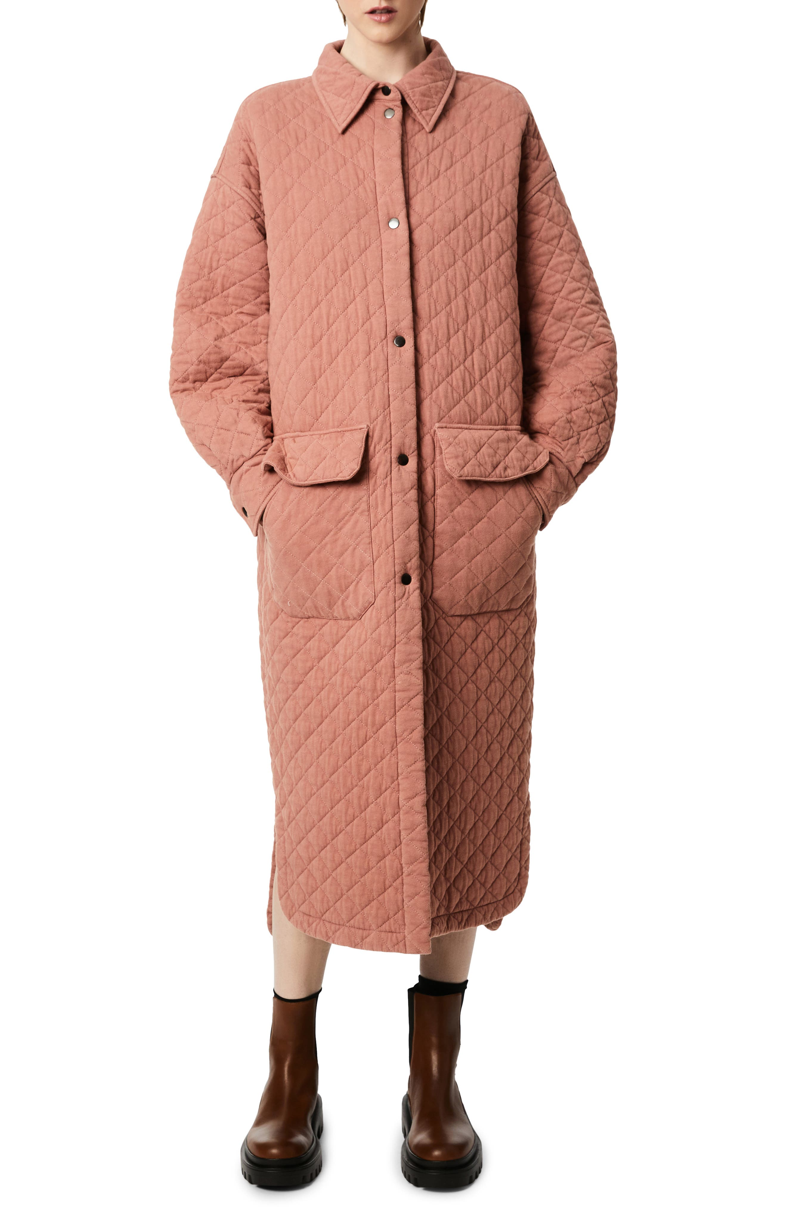 Oversize Quilted Cotton Coat