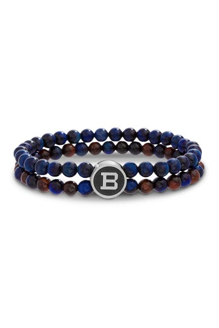 Image of Ben Sherman Beaded Logo Bracelet