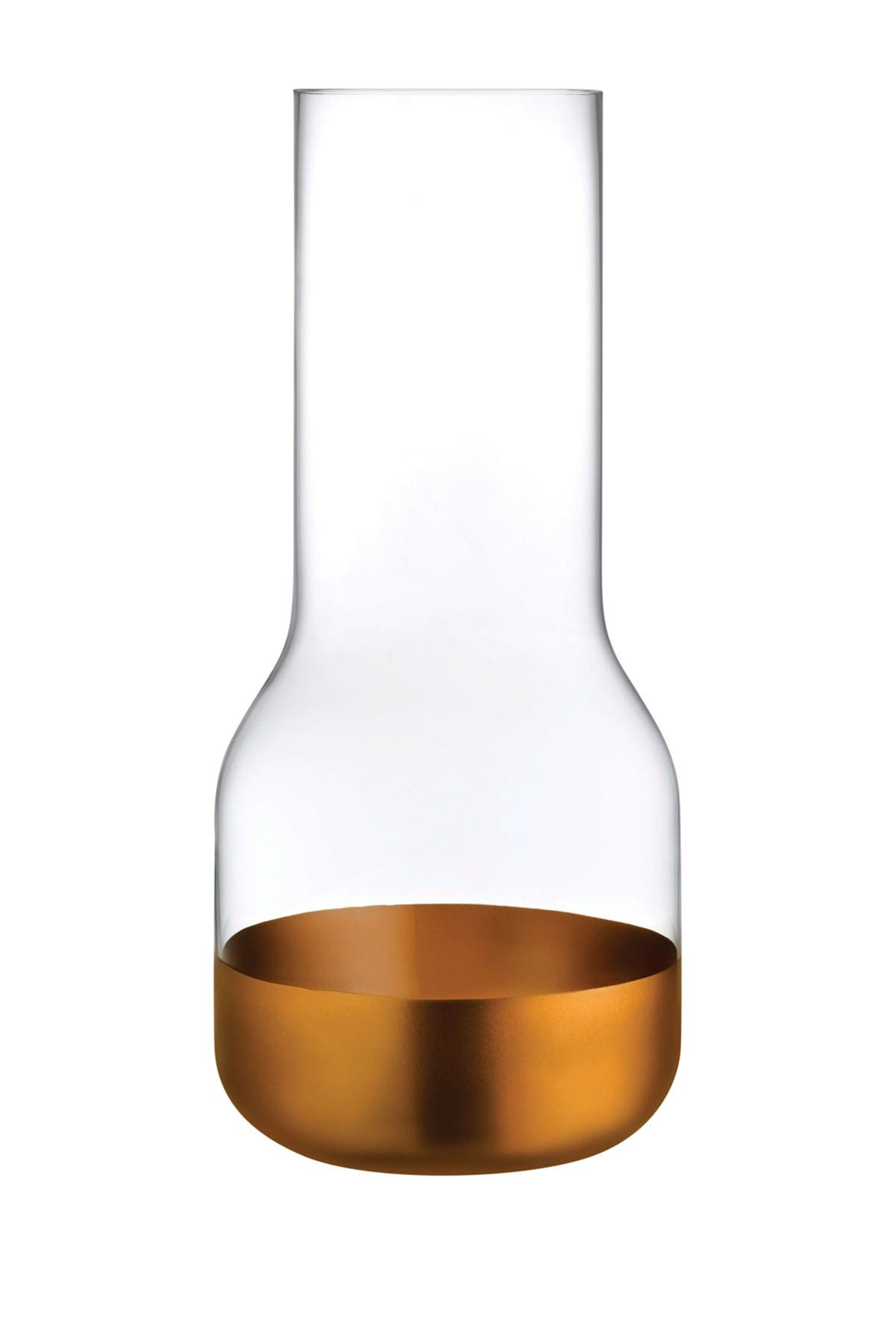 Image of Nude Glass Contour Vase - Tall with Clear Top and Copper Base