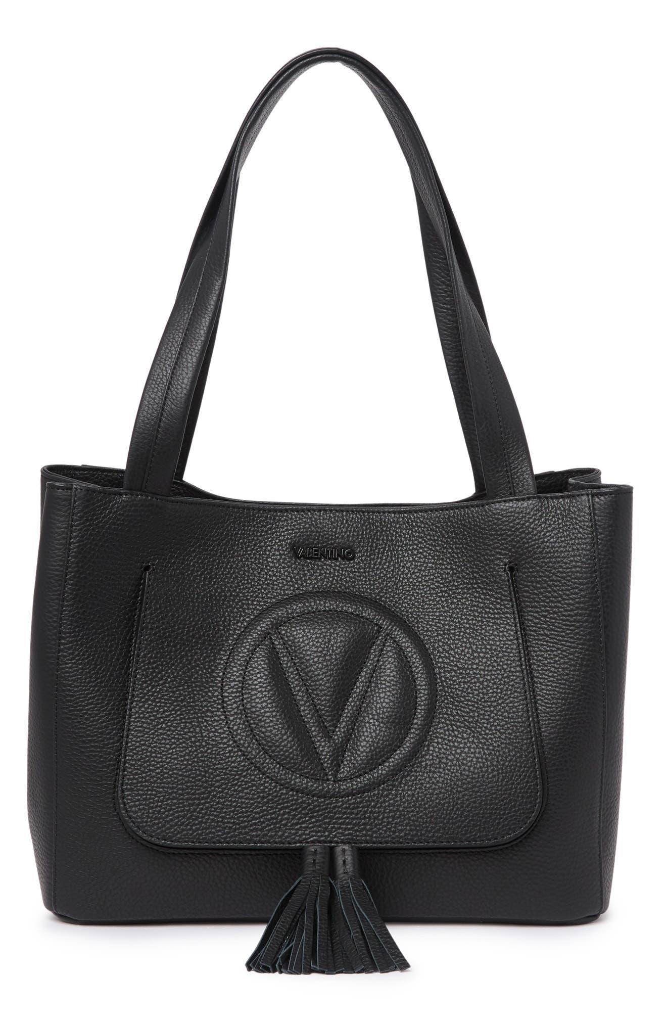 Image of Valentino By Mario Valentino Estelle Dollaro Leather Tote Bag