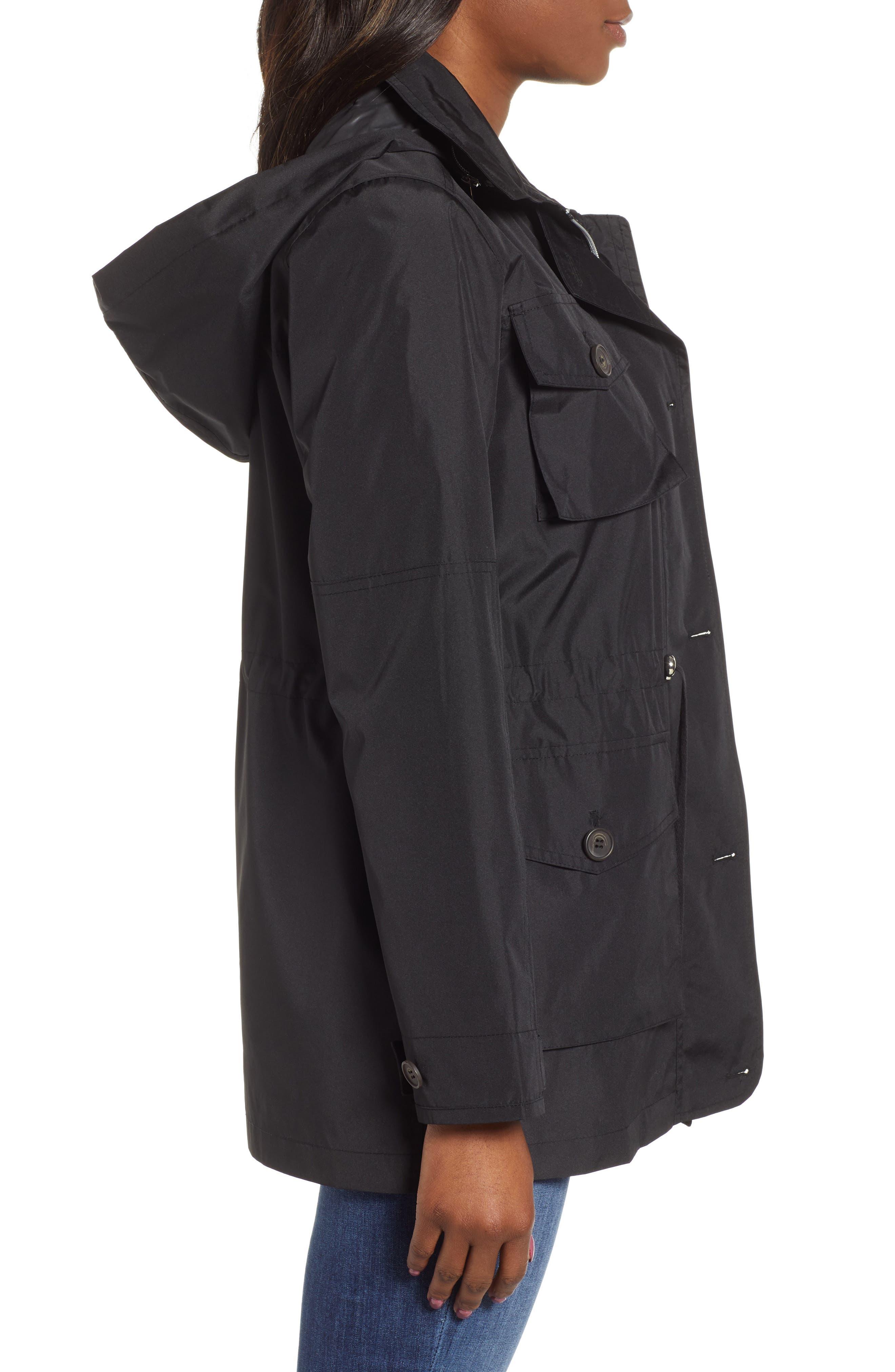 ,                             4-Pocket Water Repellent Utility Jacket,                             Alternate thumbnail 3, color,                             BLACK