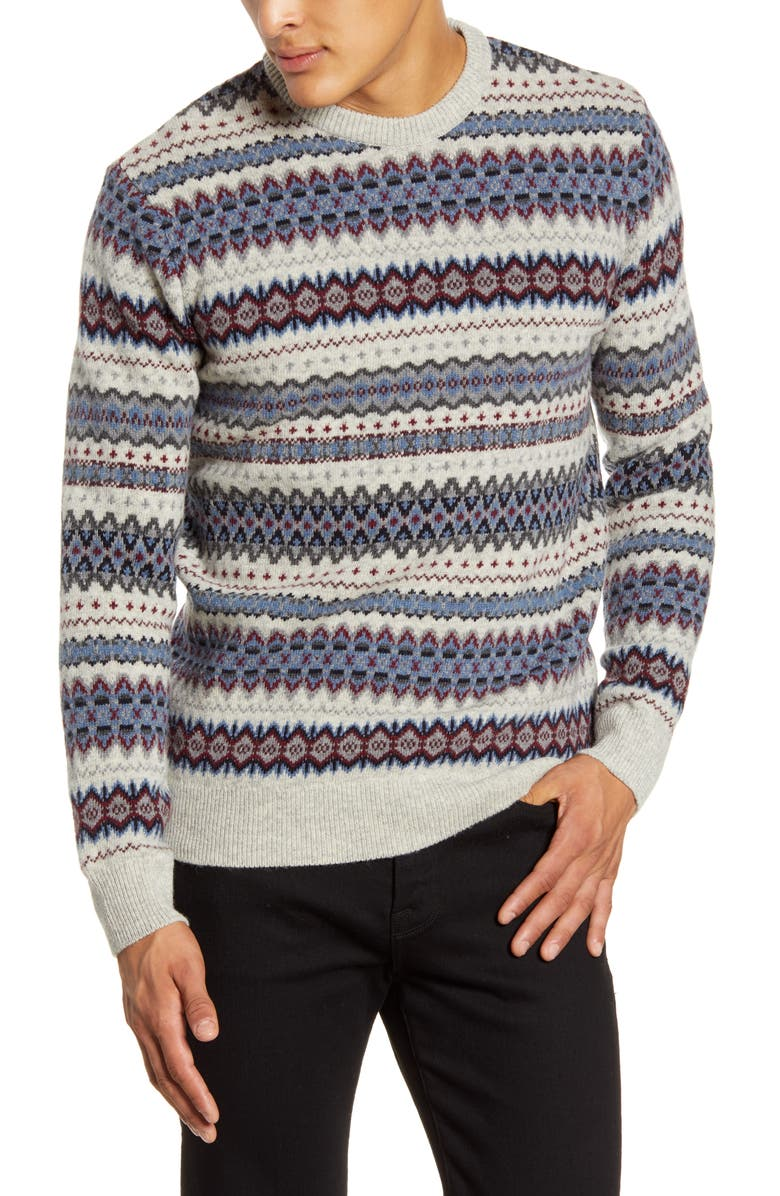 BARBOUR Case Fair Isle Wool Sweater, Main, color, 251
