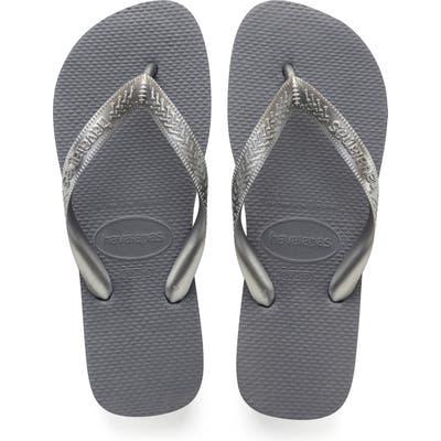 Havaianas Top Tiras Flip Flop, /36 BR - Grey