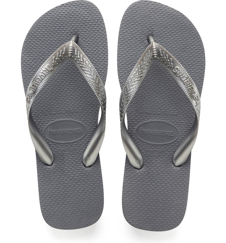 HAVAIANAS Top Tiras Flip Flop, Main, color, STEEL GREY