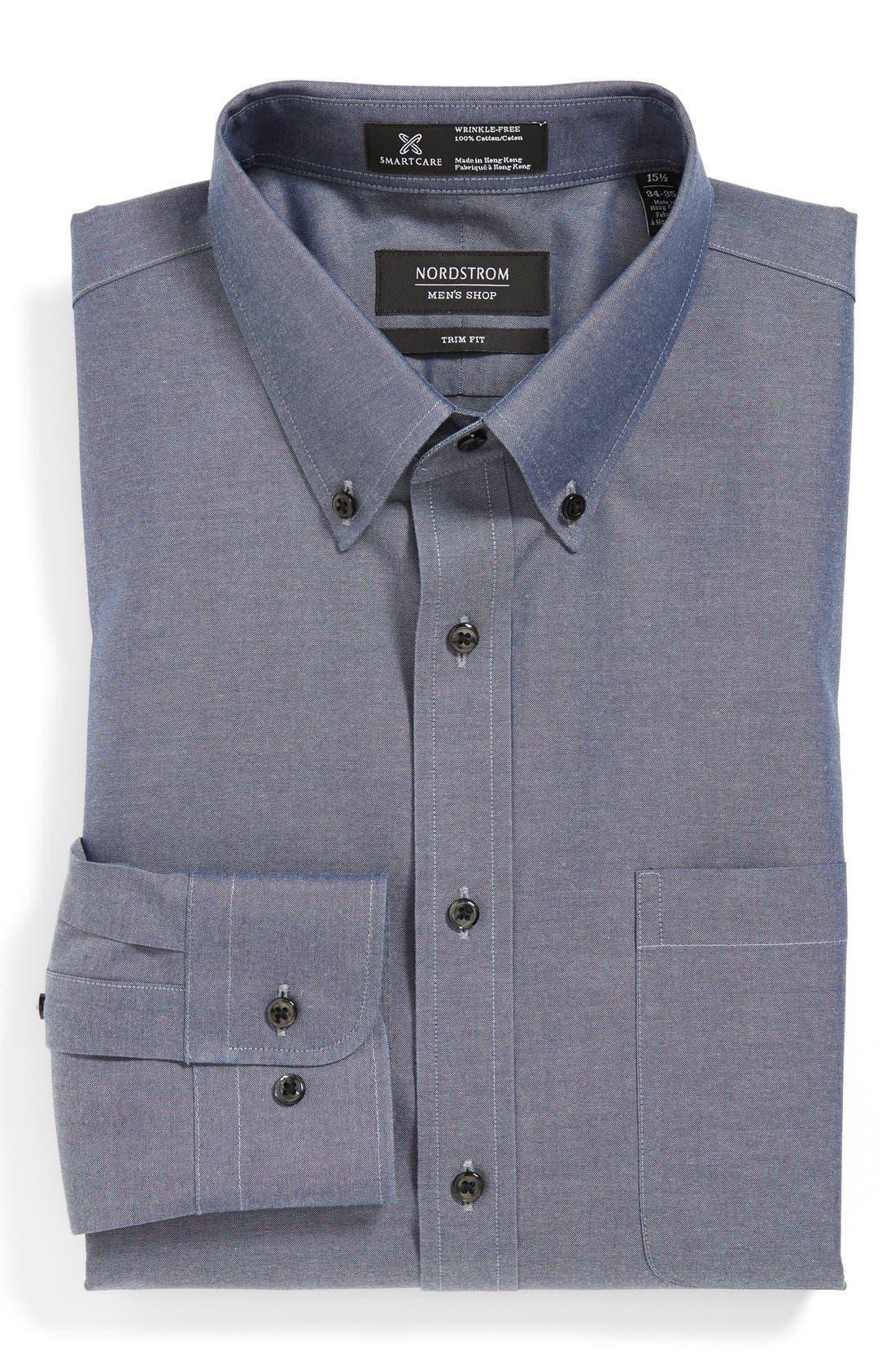 ,                             Smartcare<sup>™</sup> Trim Fit Solid Dress Shirt,                             Main thumbnail 18, color,                             401