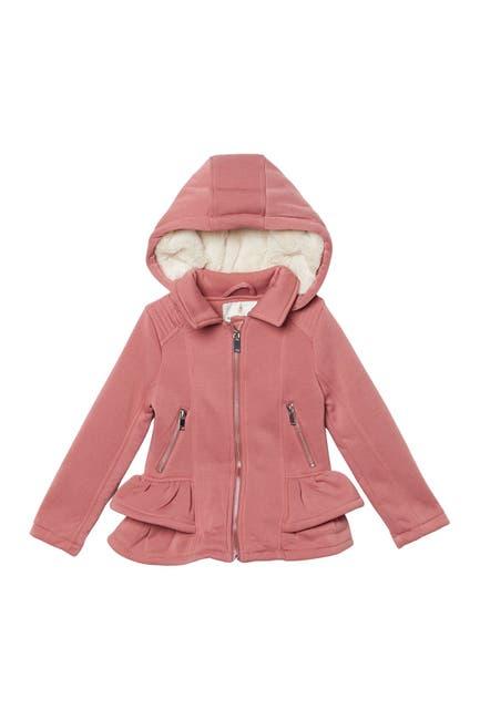 Image of Urban Republic Faux Fur Lined Ruffle Trim Jacket