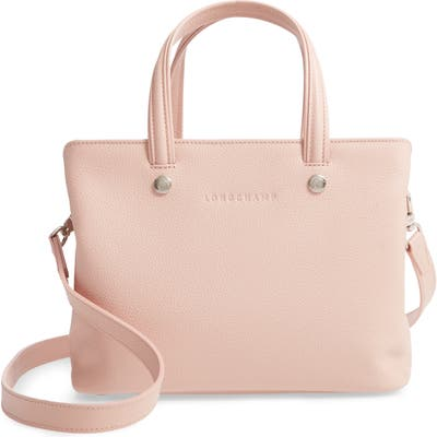 Longchamp Le Foulonne Zip Around Leather Tote - Pink