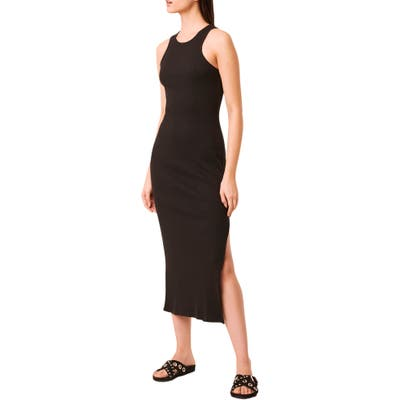 French Connection Tommy Rib Midi Dress, Black