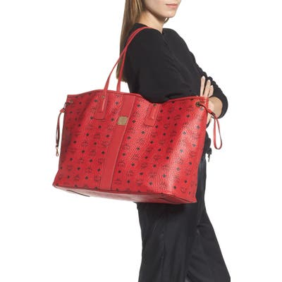 Mcm Large Liz Reversible Shopper - Red