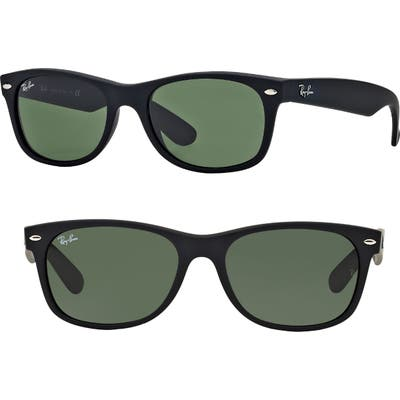 Ray-Ban Standard New Wayfarer 55Mm Sunglasses - Black Rubber