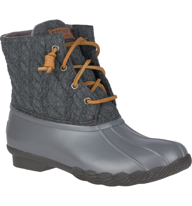 SPERRY Saltwater Rain Boot, Main, color, GREY ROPE FABRIC