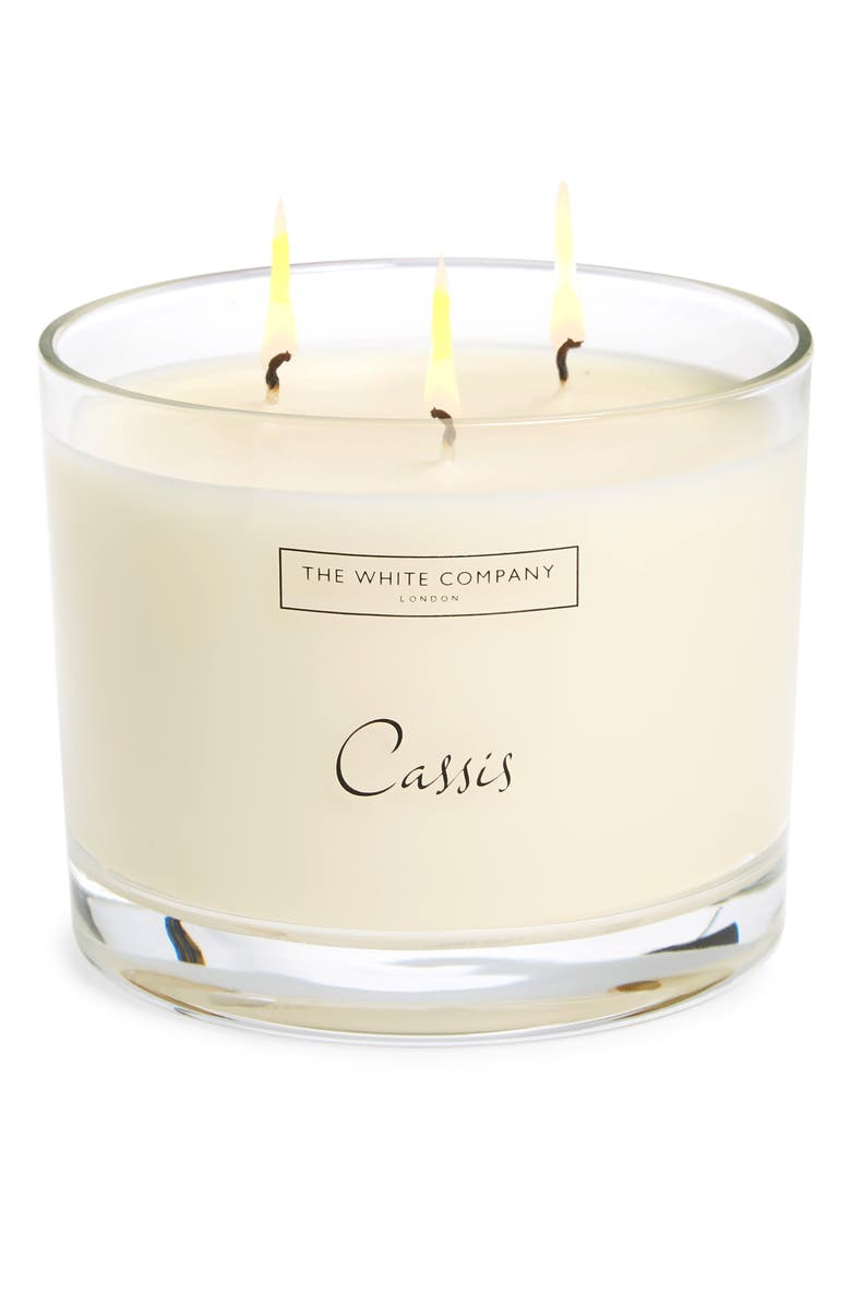 THE WHITE COMPANY Large Scented Candle, Main, color, CASSIS