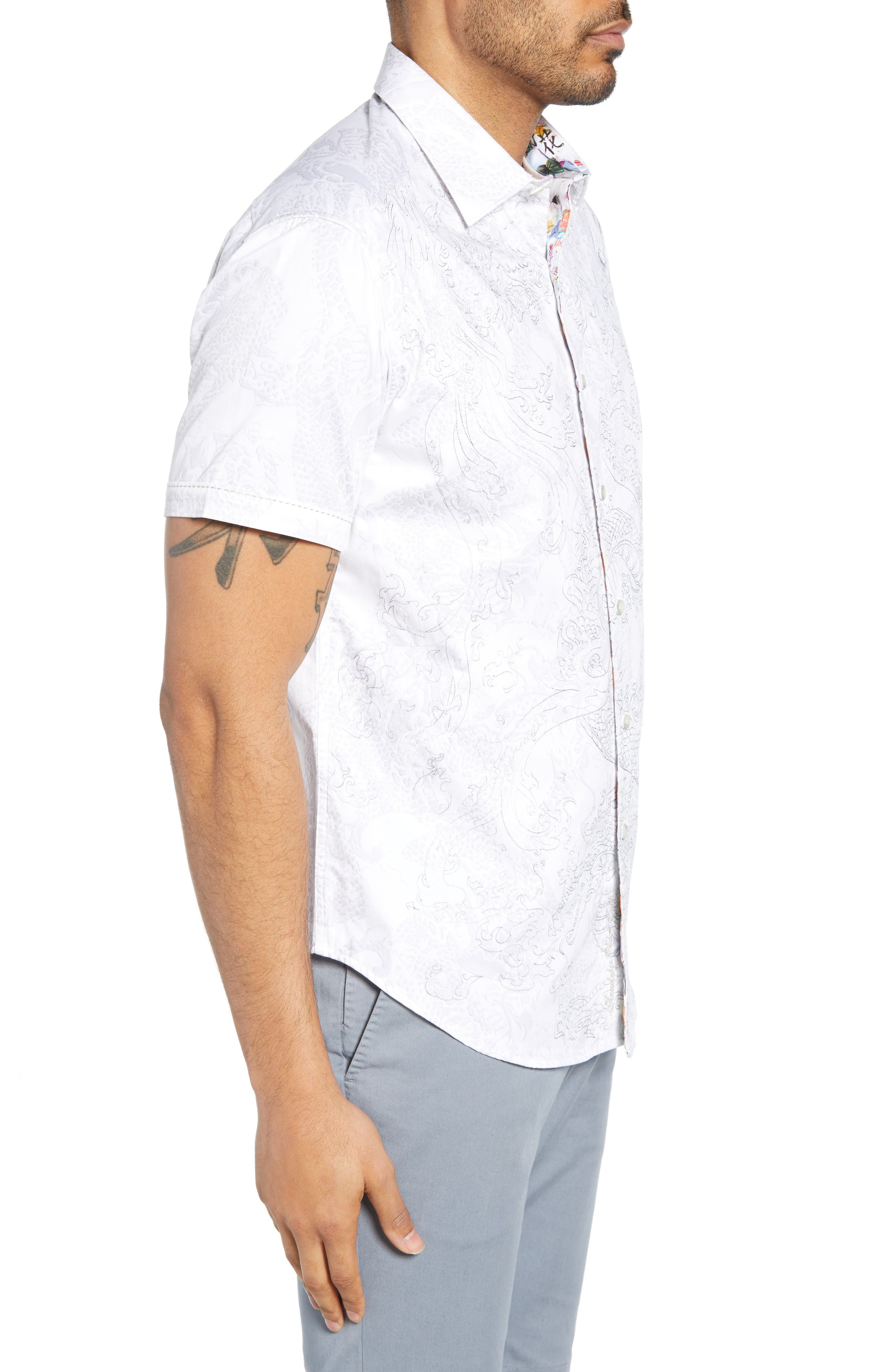 Robert Graham T-shirts Dragon Fire Classic Fit Cotton Shirt