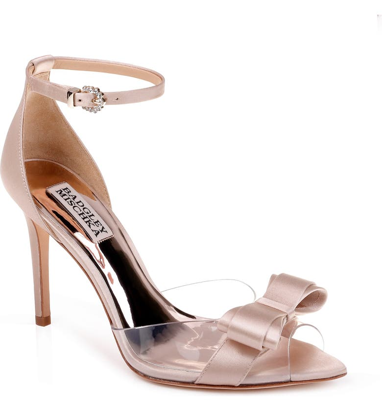 BADGLEY MISCHKA COLLECTION Badgley Mischka Lindsay Ankle Strap Sandal, Main, color, NUDE SATIN