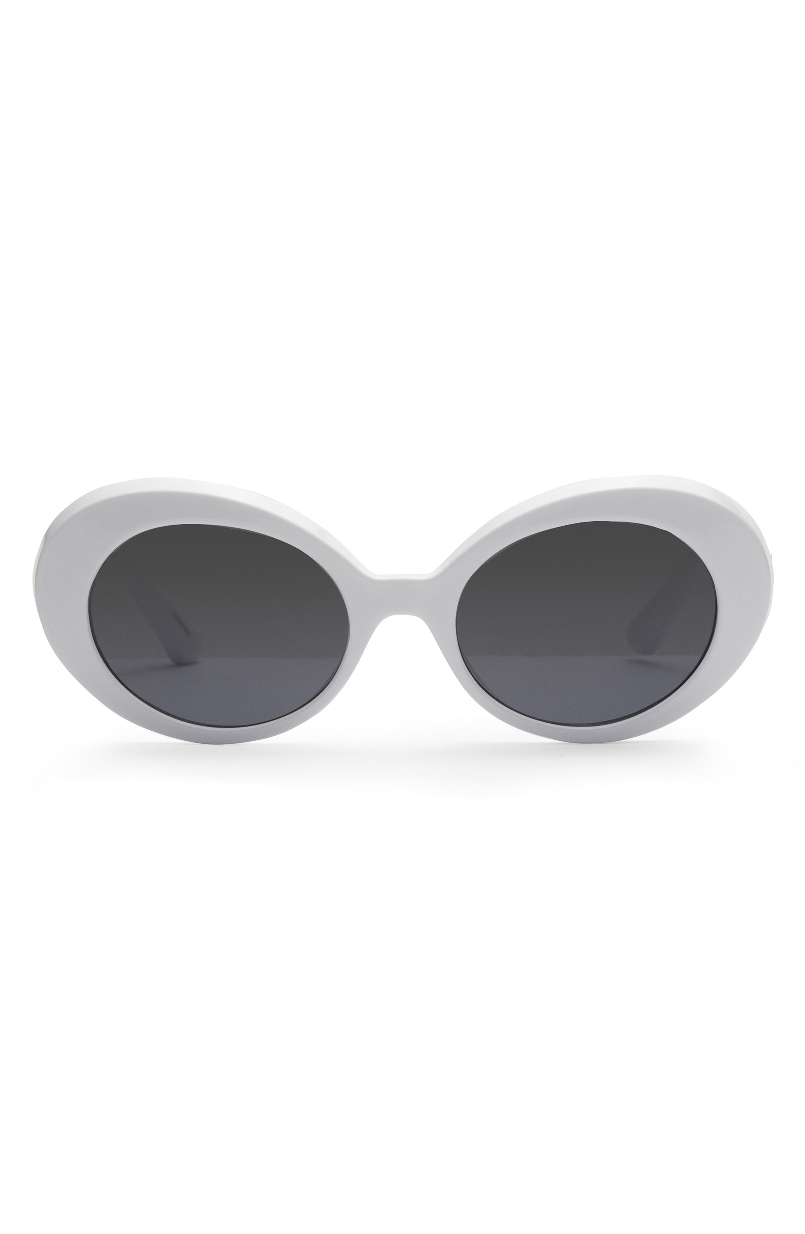 Junia Wowza 4m Oval Sunglasses - White