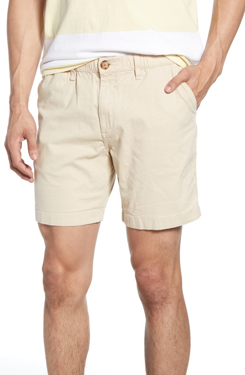 CHUBBIES The Khakinators 5 1/2-Inch Inseam Shorts, Main, color, STONE KHAKI