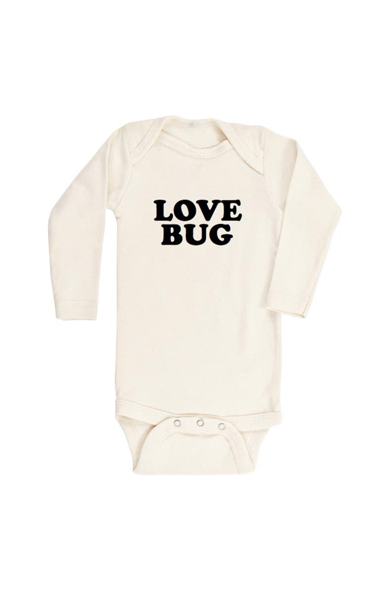 TENTH & PINE Love Bug Organic Cotton Bodysuit, Main, color, NATURAL