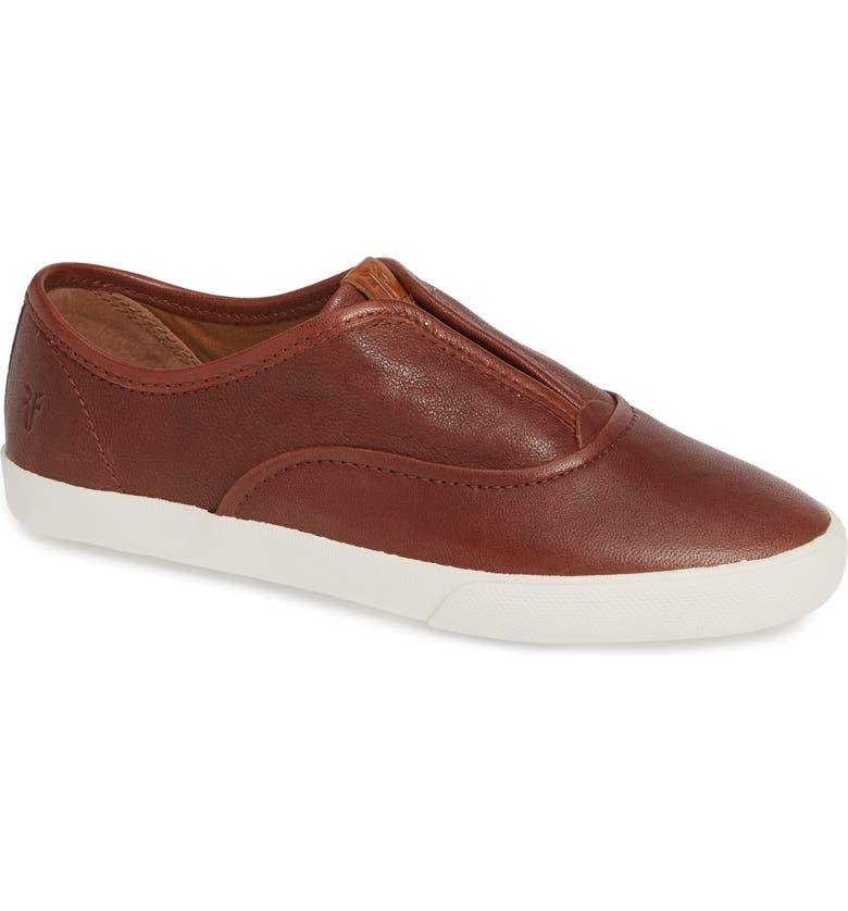 FRYE Maya Slip-On Sneaker, Main, color, COGNAC LEATHER