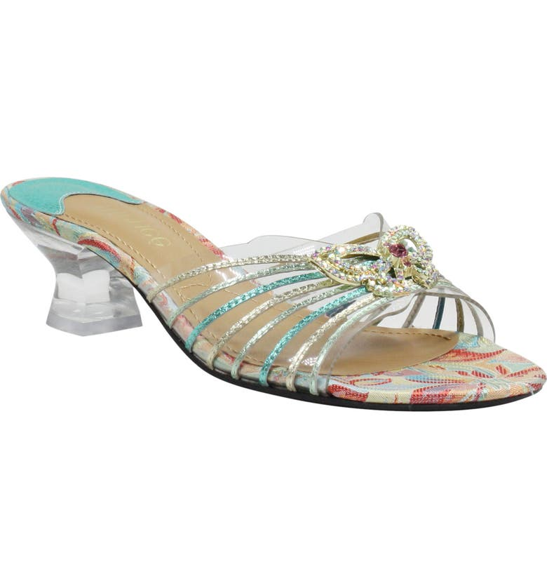 J. RENEÉ Ohanna Slide Sandal, Main, color, GREEN/ BLUE MULTI