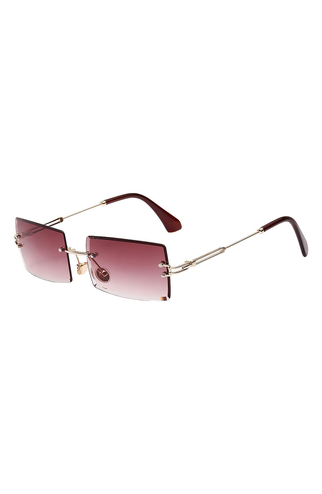 Miami 58mm Rectangle Sunglasses