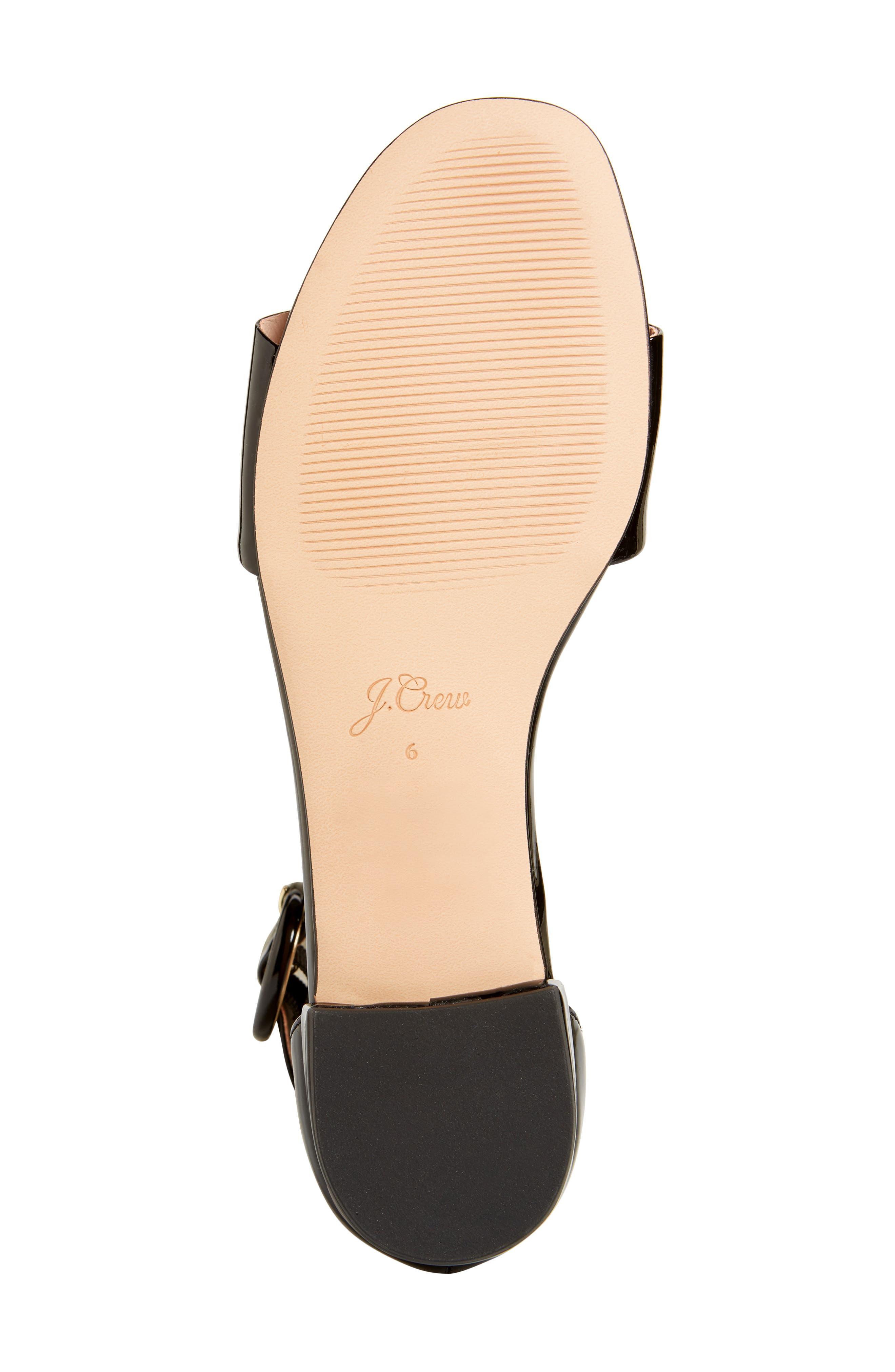 ,                             Ankle Strap Flat Sandal,                             Alternate thumbnail 6, color,                             001