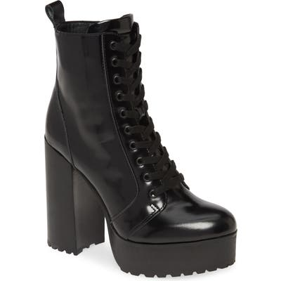 Steve Madden Lear Lace-Up Boot, Black