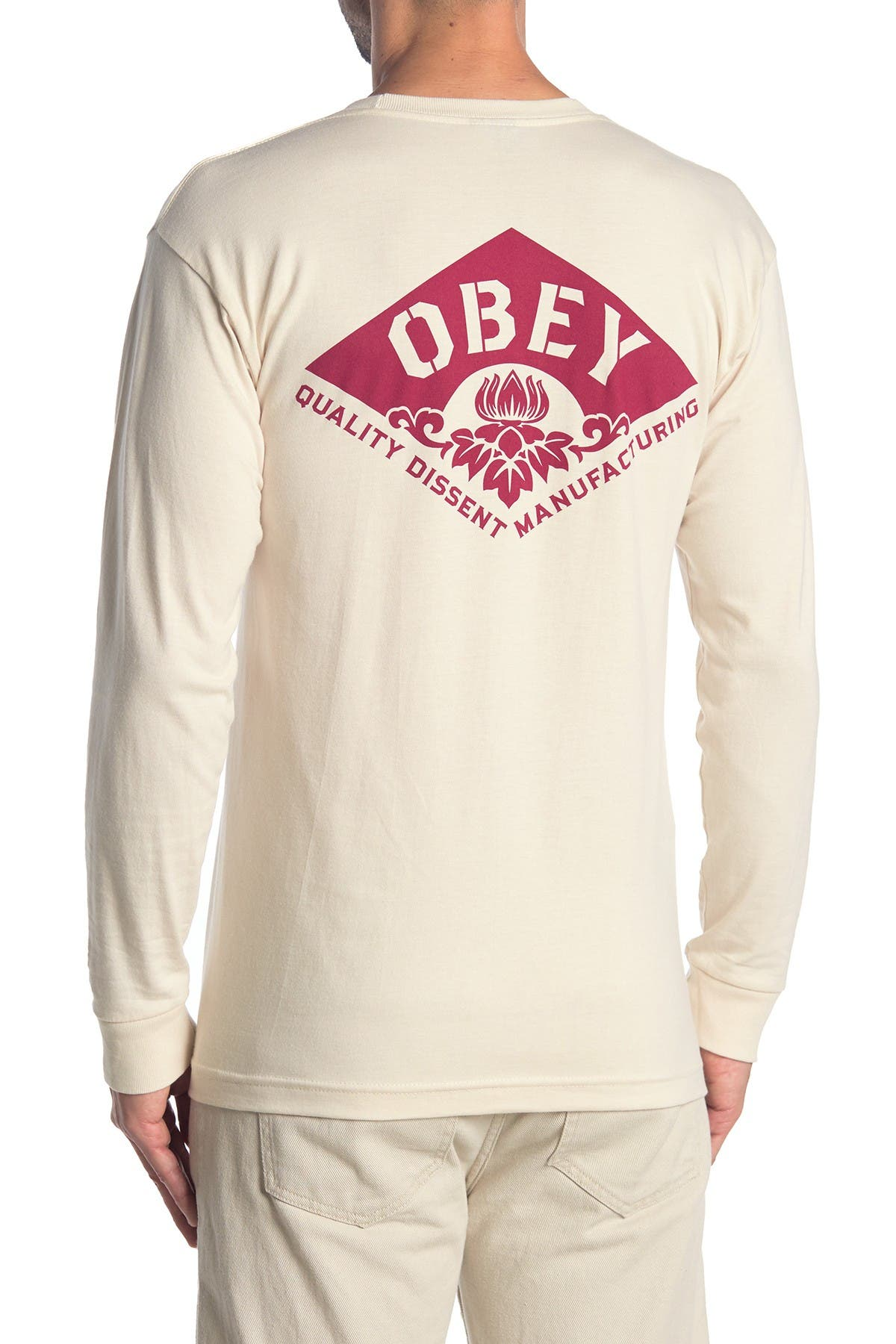 Image of Obey Lotus Flower Long Sleeve T-Shirt