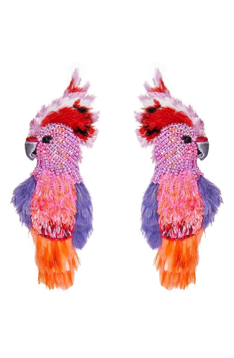 MIGNONNE GAVIGAN Cockatoo Beaded Earrings, Main, color, MULTI/ PINK