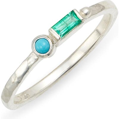 Anzie Cleo Emerald & Turquoise Ring