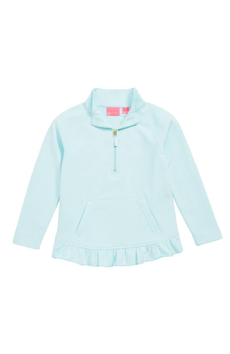 LILLY PULITZER<SUP>®</SUP> Mini Killian UPF 50+ Half Zip Pullover, Main, color, 484