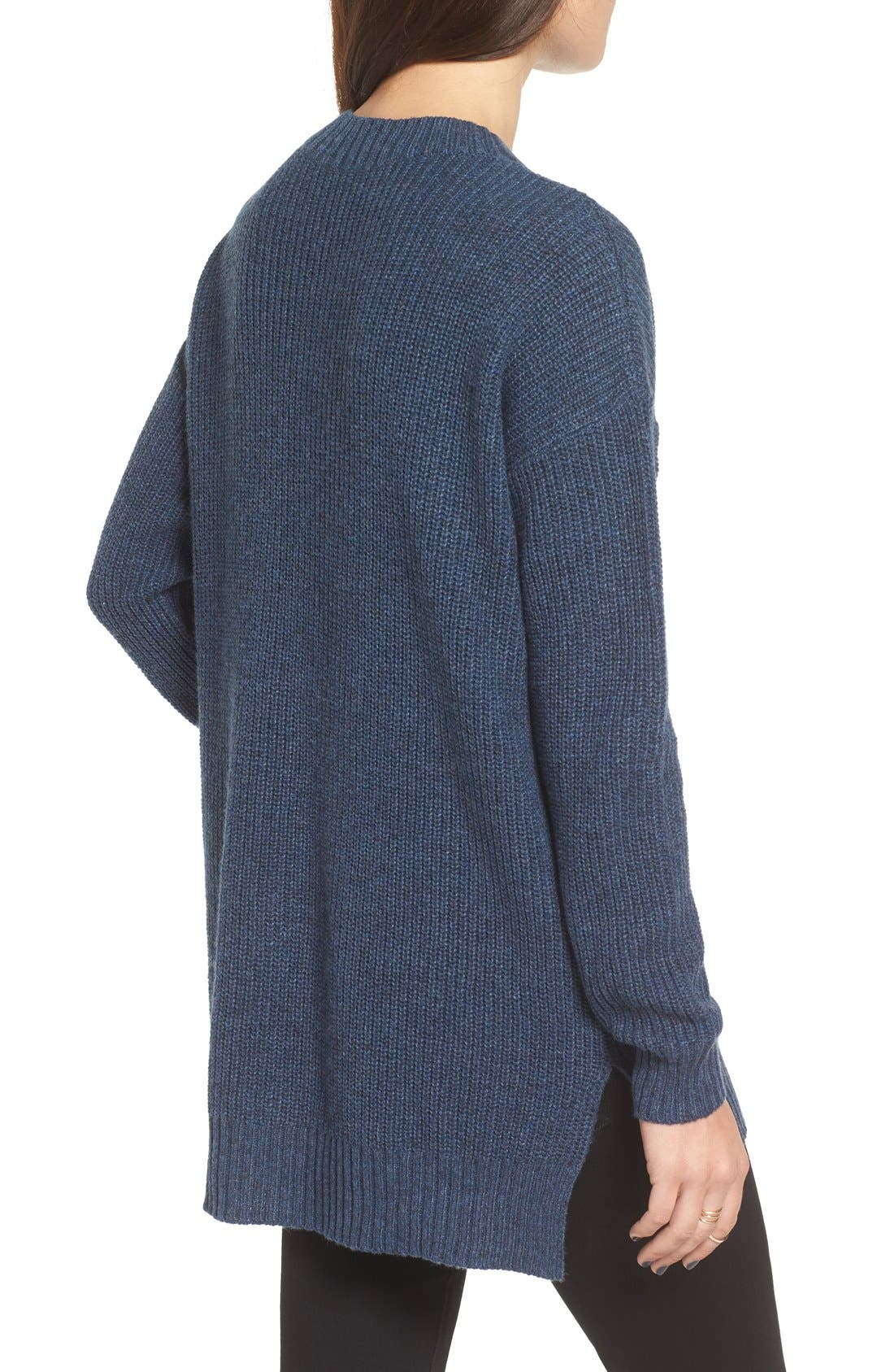 ,                             Ribbed Mock Neck Pullover,                             Alternate thumbnail 18, color,                             401