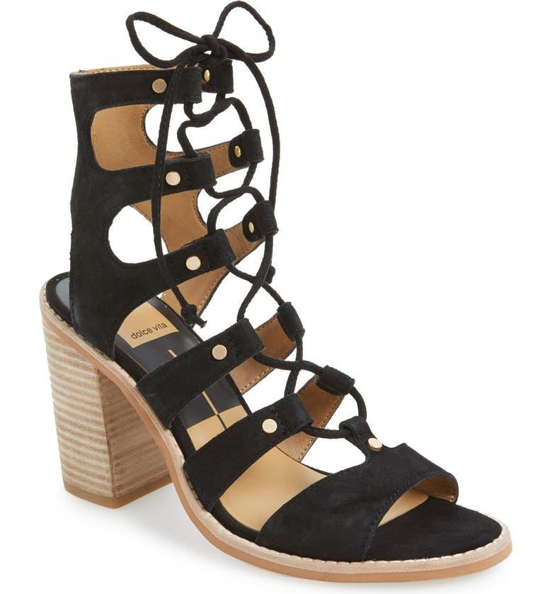 DOLCE VITA 'Lyndon' Lace-Up Sandal, Main, color, 001