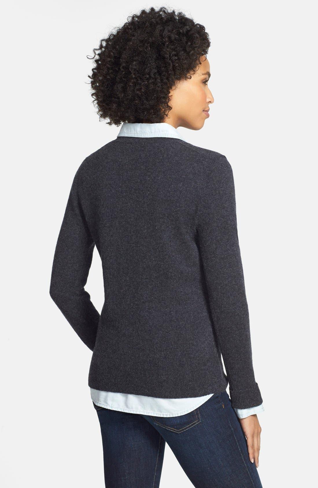 ,                             Cashmere V-Neck Sweater,                             Alternate thumbnail 6, color,                             020
