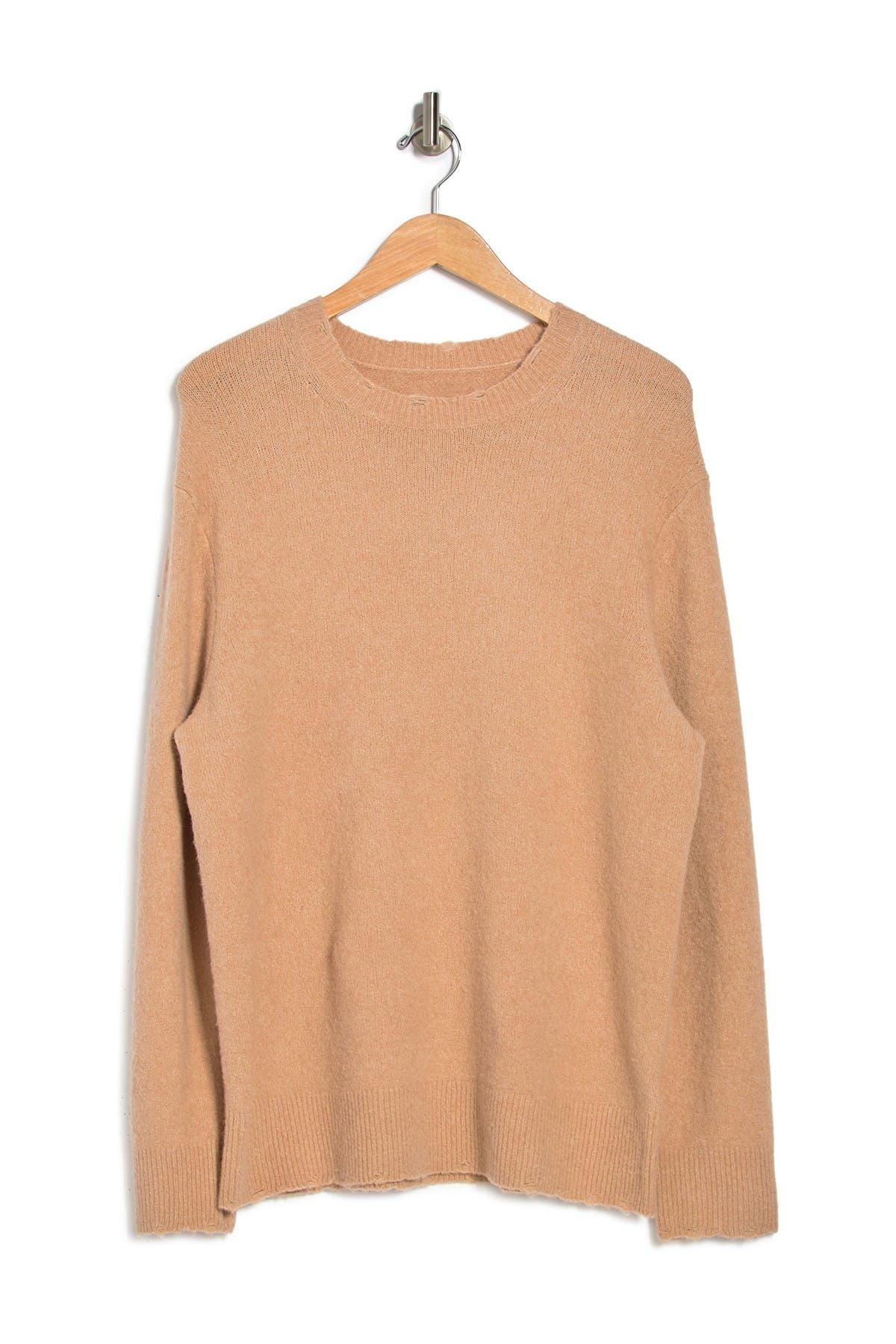 Allsaints Mode Slim Fit Merino Wool Sweater In Golden Brown Marl