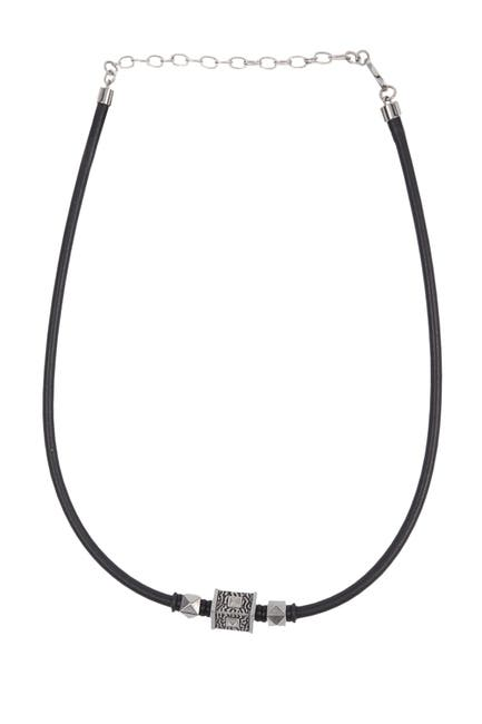 Image of Bruno Banani Stainless Steel Bead & Leather Cord Bracelet