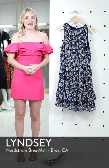 Floral Smocked Waist Minidress, sales video thumbnail